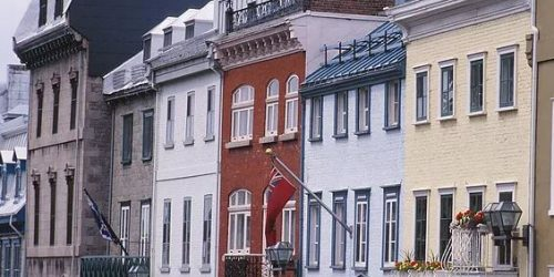 photograph of house fronts