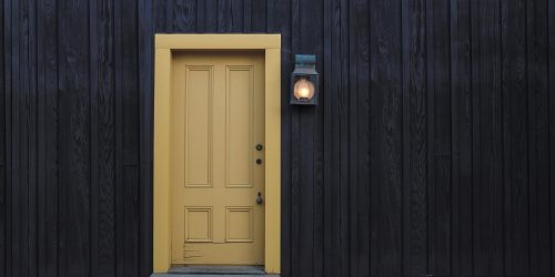 wooden door to a unique property in London