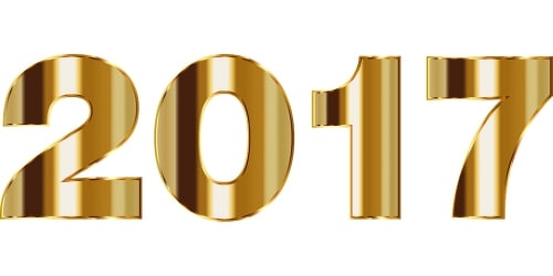2017 in gold lettering