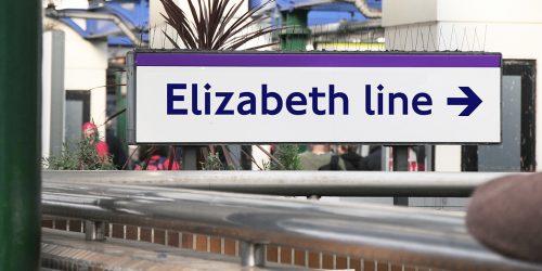 Elizabeth Line tube sign