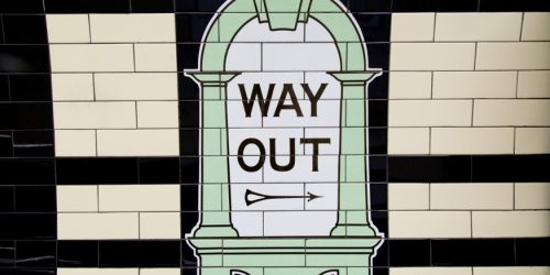 London Way Out sign